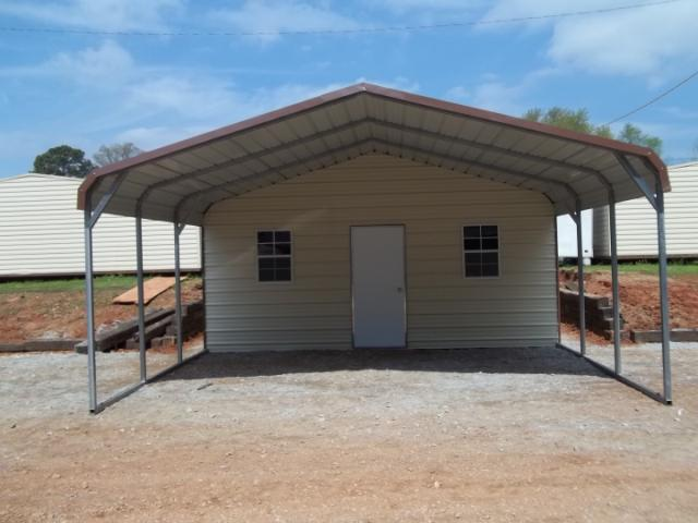 Metal carports for sale on line for Carport shed combo
