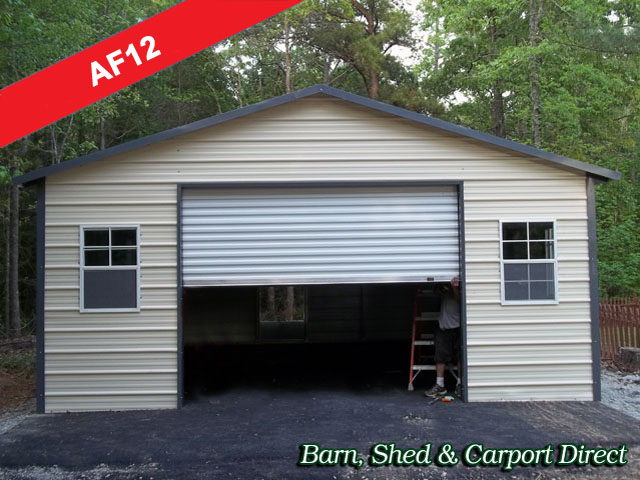 Storage shed 20 x 20 deck pricing for Carport shop combo