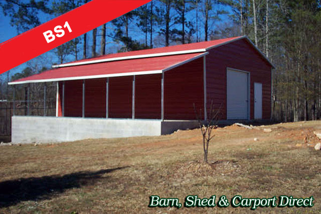 Barn Shed : 34' x 36' x 10'/6'