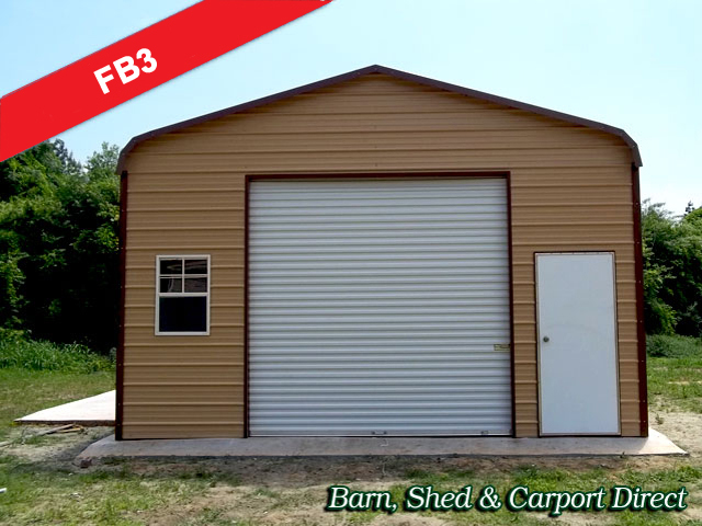 Enclosed Farm Equipment Storage Building : 18' x 21' x 10'