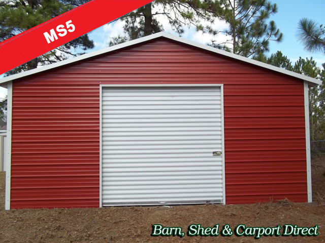 Boxed Eave Equipment Storage Shed 18\' x 21\' x 8\'