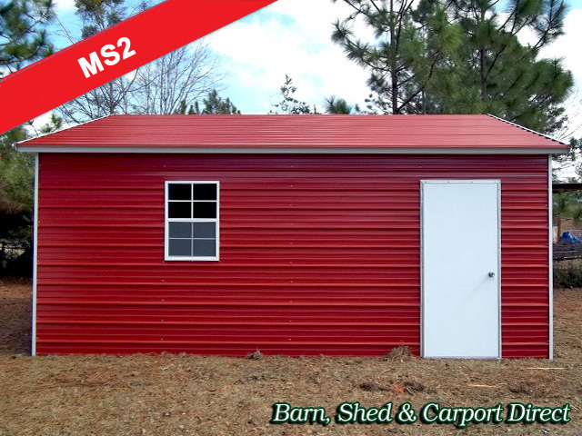 A-Frame Metal Storage Shed : 12' x 21' x 7'