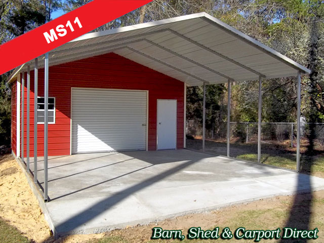 Metal carports with storage shed photos for Carport shed combo