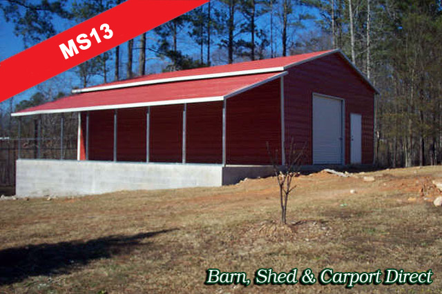 Large Workshop, Utility Shed & Carport Combo : 34' x 36' x 10'/6