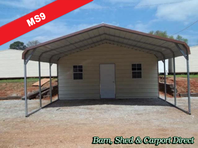 Metal carports with shed attached for Shed with carport attached