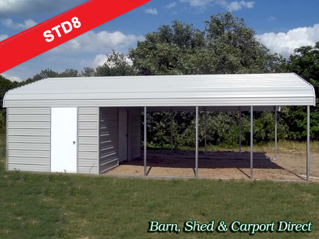 Nane storage shed 20 x 20 metal carport for Shed with carport attached