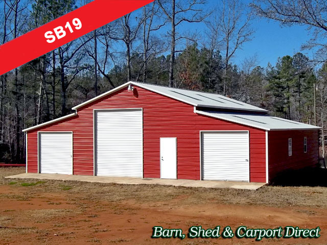Build a wood storage shed storage building barn style for 3 car garage shed