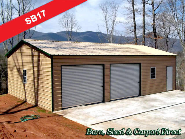 Deluxe Style Large Metal Storage Building : 30' x 41' x 9'