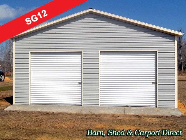 Sasila large storage sheds buildings for Two car garage shed