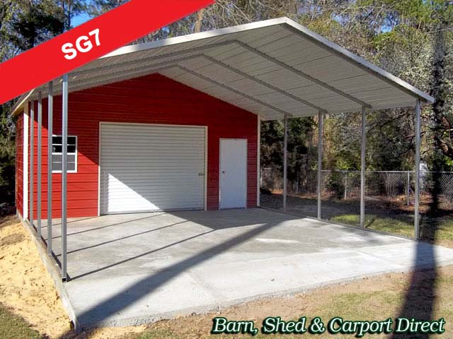 Storage garages barn shed carpot direct metal for Single garage with carport
